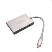 Adaptador USB-C a HDMI VGA DVI USB Ulink Notebook Macbook UL-ADC1040
