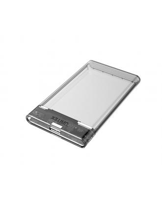 Cofre Disco Duro y SSD Notebook 2.5 USb 3.0 Transparente Unitek