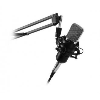 Kit Microfono Streaming Studio Antipode Brazo Ajustable Tarjeta Sonido USB