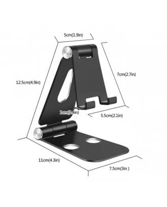 Soporte Plegable Aluminio Celulares y Tabletas Negro