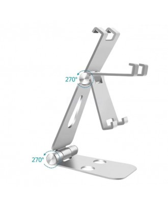 Soporte Plegable Aluminio Celulares y Tabletas Silver