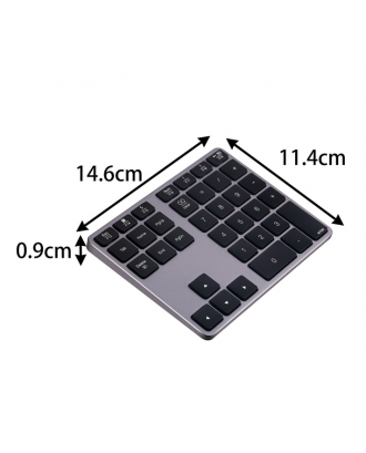 Teclado Numerico Aluminio Bluetooth Macbook Notebooks 35 Teclas