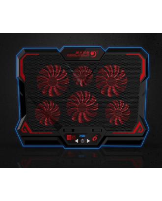 Ventilador Notebook Gamer 13 / 16 Pulgadas 6 Ventiladores Rojo