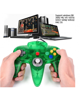 Joystick Usb Pc Diseño Nintendo 64 N64 Verde