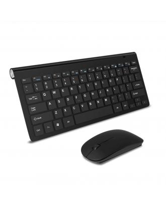 Kit Mouse Teclado Macbook Notebook Inalambrico Wireless USB Negro