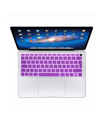 Protector Teclado Macbook Air 2018-2019 Modelo A1932 Lila