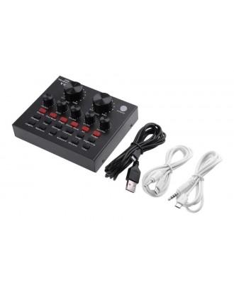 Kit Audio Streaming Mixer 2 Canales y Microfono Atril