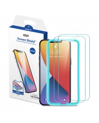 Vidrio Templado Premium iPhone 12 / 12Pro 2 Unidades Facil Instalación ESR