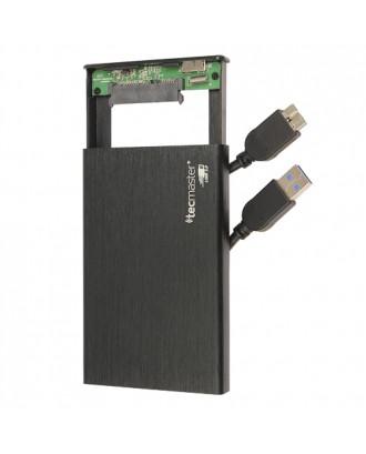 Cofre Disco Duro y SSD Notebook 2.5 USB 3.0 Aluminio Tecmaster