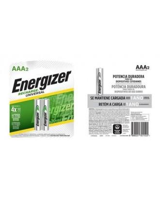 Pilas Recargables AAA NiMh 700mAh 2un Energizer