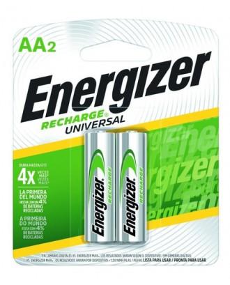 Pilas Recargables AA NiMh 2000mAh 2un Energizer