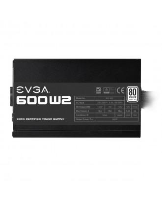 Fuente Poder EVGA W2 600W Certificada 80 Plus