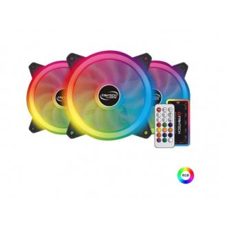 Kit Ventiladores Gamer 120MM Fantech Turbine FB-301 RGB