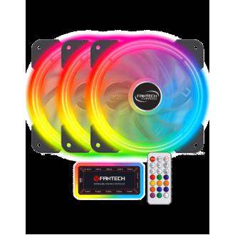 Kit Ventiladores Gamer 120MM Fantech Thypoon FB-302 RGB