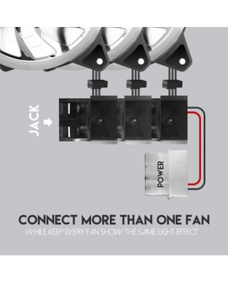 Ventilador Extractor Gamer 120mm Turbine Dual Ring FC124 RGB