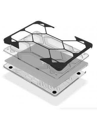 Carcasa Macbook Air 13/ 13.3 A1466 Máxima Protección Transparente Hexpact