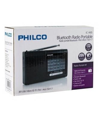 Radio Portátil Philco Bluetooth USB Multibanda Linterna Recargable ICX65