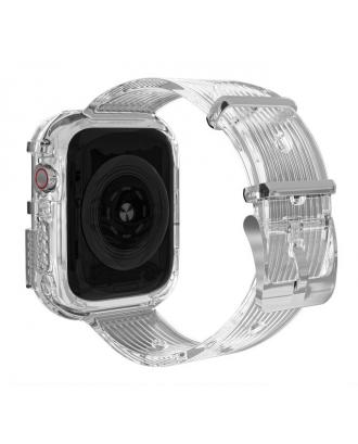 Correa Para Applewatch Silicona Vintage A 38mm / 40mm Transparente