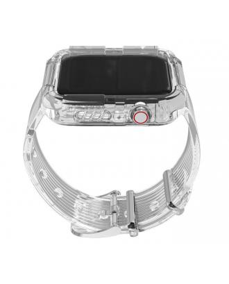 Correa Para Applewatch Silicona Vintage A 40mm / 42mm Transparente