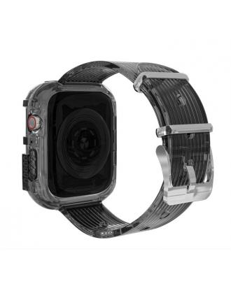Correa Para Applewatch Silicona Vintage A 42mm / 44mm Negra