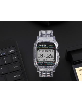 Correa Para Applewatch Silicona 42mm / 44mm Vintage C Transparente
