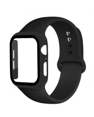Kit Correa Silicona Protector Pantalla Applewatch 40mm Negro