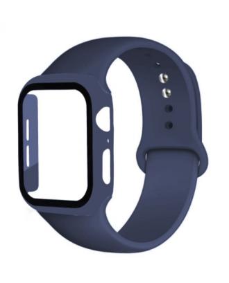 Kit Correa Silicona Protector Pantalla Applewatch 40mm Azul