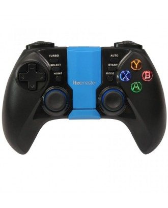 Control Joystick Gamepad Bluetooth Celular Iluminado Android PC Azul