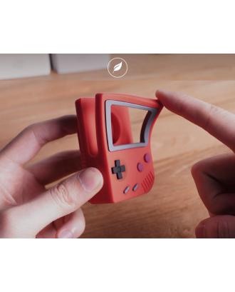 Soporte Dock Para Applewatch Silicona Diseño Gameboy Negro
