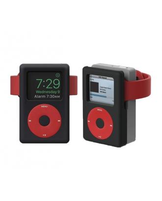 Soporte Dock Para Applewatch Silicona Diseño iPod Classic Negro