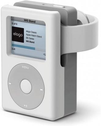 Soporte Dock Para Applewatch Silicona Diseño Blanco