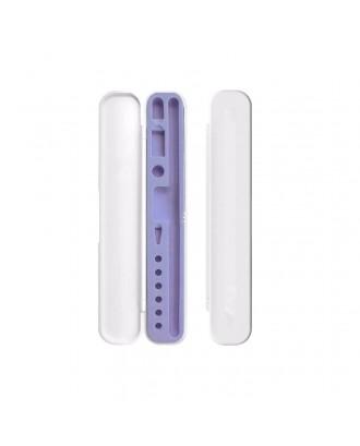 Estuche Protector Para Apple Pencil y Accesorios Blanco Lila