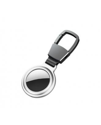 Protector Llavero Para Airtag Metal Imantado Silver