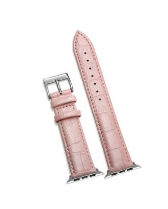 Correa Para Applewatch Cuero Hebilla Mujer Rosada 38 / 40mm Todas las Series