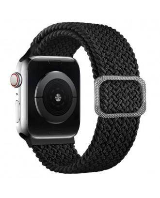 Correa Para Applewatch Nylon Trenzada Ajustable 42/44mm Negra