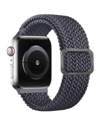 Correa Para Applewatch Nylon Trenzada Ajustable 38/40mm Grafito