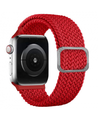 Correa Para Applewatch Nylon Trenzada Ajustable 42/44mm Rojo