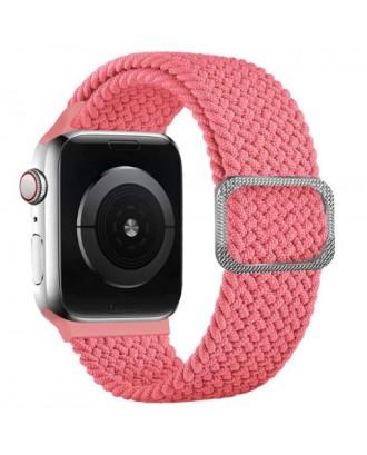 Correa Para Applewatch Nylon Trenzada Ajustable 38/40mm Rosada