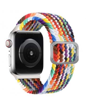 Correa Para Applewatch Nylon Trenzada Ajustable 38/40mm Multicolor
