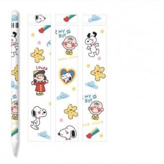 Set 3 Adhesivos Protectores Applepencil 1 Diseño Snoopy