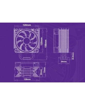 Ventilador CPU RGB Raidmax AC1204 Intel AMD