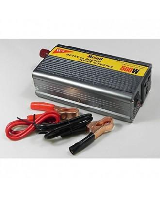 Inversor Voltaje Auto 500W 12Volt A 220V Aluminio