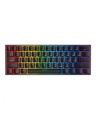 Teclado Gamer RGB Mecanico 60 Porciento Fantech MAxfit 61