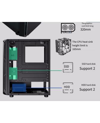 Gabinete Gamer ATX - Micro ATX Patriot T9 Black Aigo