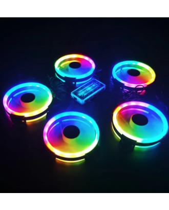 Set 5 Ventiladores Gamer Control RGB 120mm Coolmoon