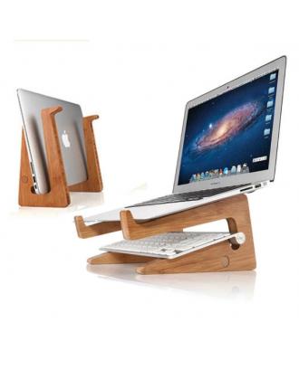 Stand Notebook Macbook 13 Pulgadas Bambu Ecofriendly GoForit