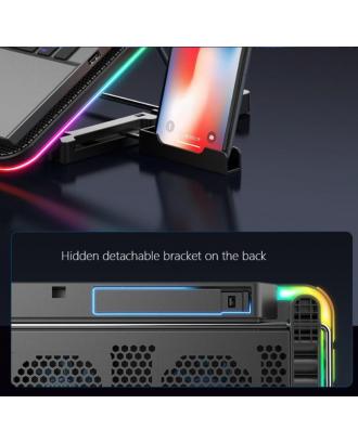 Ventilador Notebook Gamer RGB 13 / 17 Pulgadas 6 Ventiladores Azules