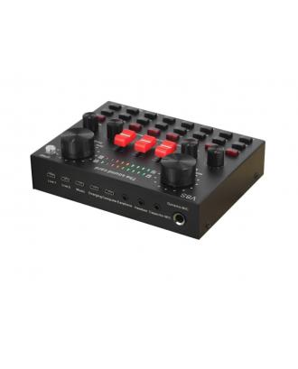 Mixer Tarjeta de Sonido 2 Canales  Streaming Youtube Bluetooth V8S