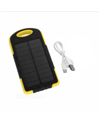 Bateria externa celular  6000MAH solar led antigolpe