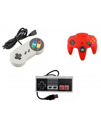 Pack Joystick Usb Pc Diseño N64 SNES NES
